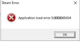 Steam Error Application load error 5:0000065434 red alert 3