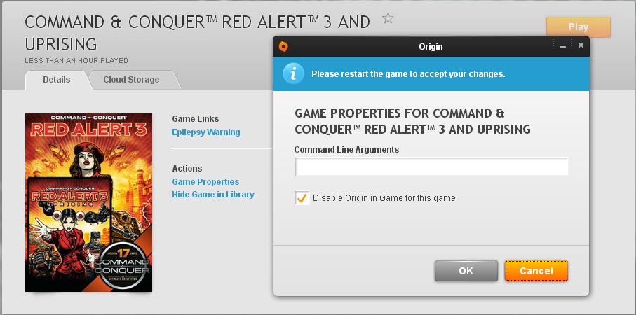 Red alert 3 Launcer problem after installing C&C patch fix (origin