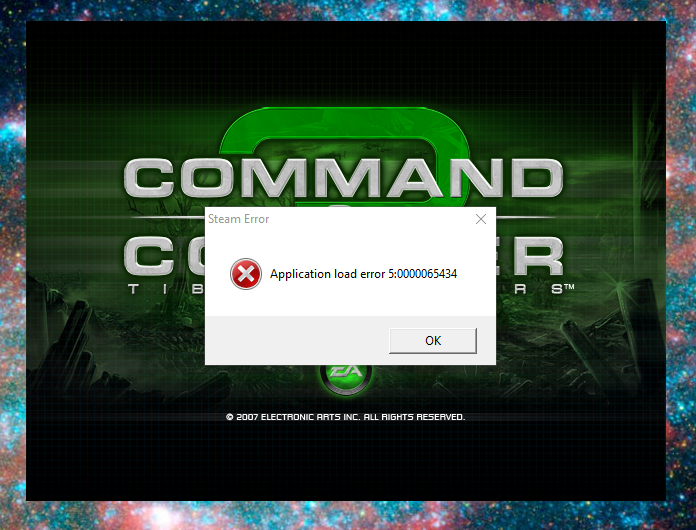 Steam Application Error C&C3 - C&C:Online Support - Revora